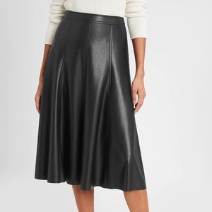 Banana Republic Vegan Leather Midi Skirt